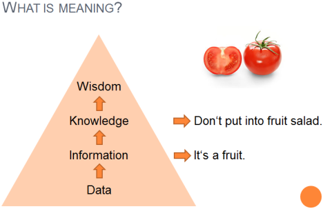 Maning proceeds from information to knowledge.